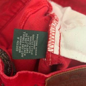 Lauren Ralph Lauren Jeans - LAUREN RALPH LAUREN Red Corduroy Petite Pants 6P